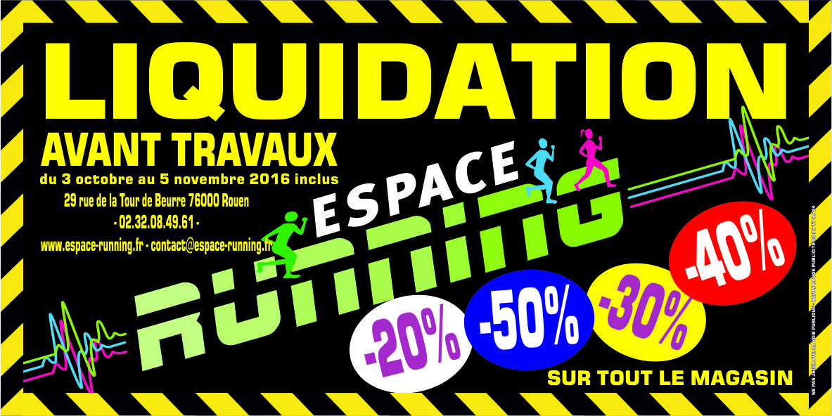liquidation totale chez espace running avant travaux 2016 psn pr aux. Black Bedroom Furniture Sets. Home Design Ideas